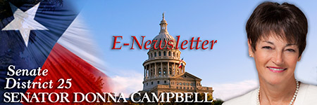 Sen. Campbell E-Newsletter signup banner graphic